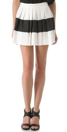 rachel zoe pleated skirt