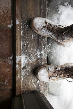 snowy boots.