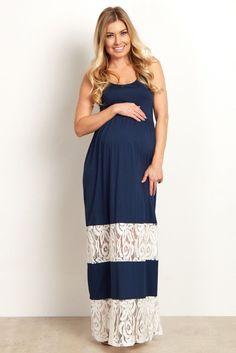 Blue dress 6 months 1 day pregnant