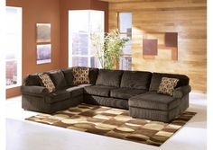 Jennifer Convertibles: Sofas, Sofa Beds, Bedrooms, Dining Rooms & More! Vista Chocolate Right Facing Chaise Sectional