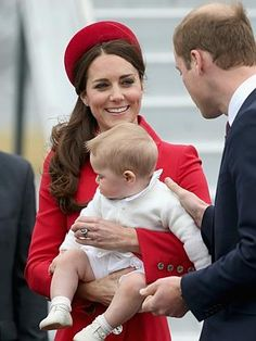 Catherine, Duchess of Cambridge, Prince William, Duke of Cambridge and Prince George