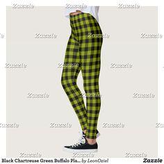 Shop Black Yellow Buffalo Plaid Gingham Leggings created by LeonOziel. Gym Leggings, Leggings Fashion, Red And Black Leggings, Black N Yellow, Bright Yellow, Black Cream, Black Gold, Tartan Pattern, Gym Style