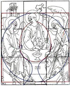 Геометрический анализ иконы «Благовещение» из местного ряда иконостаса Троицкого собора Троице-Сергиевой Лавры