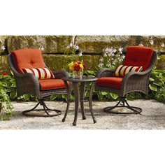 Homes and Gardens Clayton Court 5-Piece Patio Dining Set, Red, Seats 4