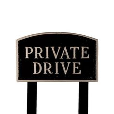 Montague Metal Products SP12LBSLS Large Black and Silver Private Drive Arch Statement Plaque with 2 23Inch Lawn Stakes * Click on the image for additional details.