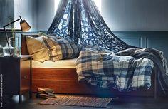 Vous aussi, vous resteriez bien un peu plus longtemps au lit ces jours-ci ? (Housse de couette KUSTRUTA)