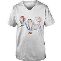 Hot Air Balloon Vintage Circus Steampunk Classique Homme Flying Rétro T Shirt