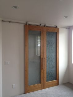 Interior Barn Doors Contemporary Frosted Glass ...