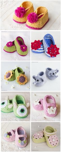 25 Adorable Free Crochet Baby Booties Here are the most adorable Free Crochet Baby Booties you can find. These 25 free crochet baby booties patterns that are quick to whip up and come with stunning designs that will warm every mom's heart. Crochet Baby Shoes, Crochet Baby Booties, Crochet Slippers, Knitted Baby, Free Crochet Bootie Patterns, Baby Knits, Baby Knitting Patterns, Baby Patterns, Crochet Patterns