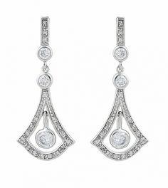 Antique Drop Earrings - wedding style