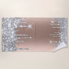 Spark Drips Glitter Effect Rose Silver Gray Shower Curtain | Zazzle.com Gray Shower Curtains, Custom Shower Curtains, Glitter Curtains, Gold Drip, Bridal Beauty, Silver Roses, Grey, Fabric, Pattern
