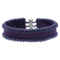 Plum Peyote Ruffle Bracelet Kit by FusionBeads.com® | Fusion Beads