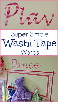Playful Words Made with Washi Tape ~ A Tutorial by 3 Little Greenwoods {3littlegreenwoods.com}