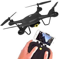 SPECTRE Drone with HD Video Camera  WiFi  App Live View  Auto TakeOff  Land  Aerobatic Flips  6 Axis Gyro ** Read more  at the image link. Note: It's an affiliate link to Amazon
