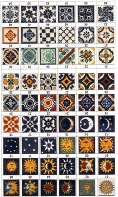 Mexican Tiles - would love these as backsplash accents