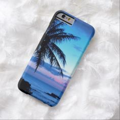 Tropical Island Pink Blue Sunset Landscape iPhone 6 Case