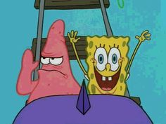 Spongebob and Patrick| I laughed so hard at this part in the episode lol