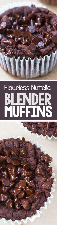 Flourless NUTELLA Breakfast Blender Muffins!