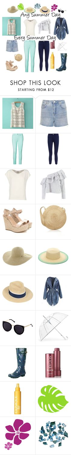 """""""Any, Every Summer Day"""" by cassandra-beauchamp on Polyvore featuring Topshop, Ralph Lauren, L'Agence, Alberto Biani, Boohoo, Roxy, SUB, Maison Michel, ShedRain and SpyLoveBuy"""