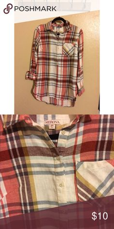 Woman's Flannel Tunic Good used condition! Great paired with leggings. Merona Tops Tunics