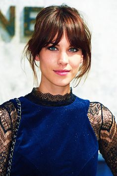 You've Got to See Chloë Grace Moretz's New Bangs - The all-time best celebrity bangs: Alexa Chung's long, center-parted bangs and beautifully blende - Hair Day, New Hair, Alexa Chung Hair, Alexa Chung Fringe, Alexa Chung Makeup, Celebrity Bangs, Celebrity Beauty, Celebrity Hairstyles, Celebrity Style