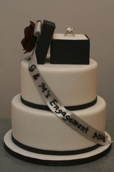 Idea For Engagement Cake