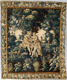 TAPESTRY, tapestry weave. 256 x 214 cm. France/Flanders, 17/18th century.