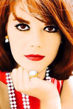 ....natalie wood, in red