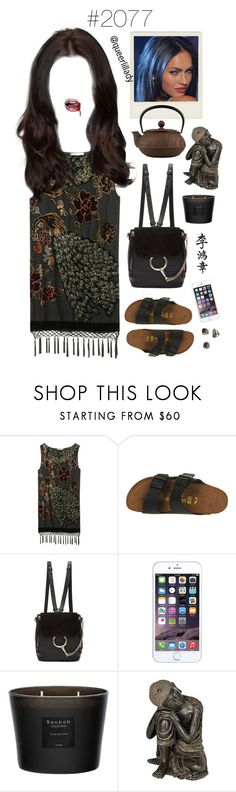 """""""#2077 - Bastet"""" by queerlillady ❤ liked on Polyvore featuring Kite and Butterfly, Polaroid, Birkenstock, Chloé, Baobab Collection, Universal Lighting and Decor and Topshop"""
