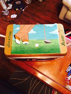 Golf side on top of formals cooler!