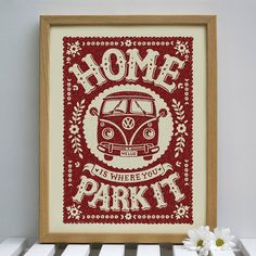 camper van print by snowdon design & craft | notonthehighstreet.com