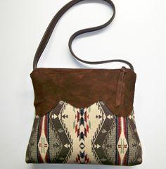 Pendleton Wool Purse Shoulder Bag Deerhide Suede by timberlineltd, $78.00
