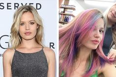 Georgia May Jagger's New Rainbow Locks