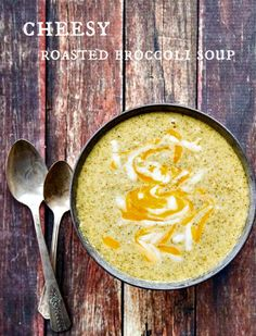Cheesy Broccoli Soup is fast, easy and delicious - the trick to maximum flavor is roasting your broccoli!