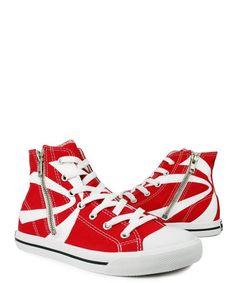 Burnetie High Top Zip Women's Sneaker-- Red
