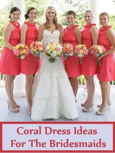 10 Coral Dress Ideas For The Bridesmaids