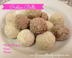Protein balls made with only protein, oats, and water. Use IsaLean or IsaLean Pro in any of our flavors to enjoy these quick and easy protein balls!