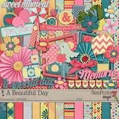 Kit A Beautiful Day  + Templates Neia Arantes Design
