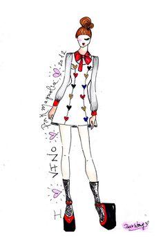 Me encantó el Sketch de Pink Magnolia para FNO México FNO México