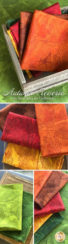 Autumn Reverie by Sue Zipkin Clothworks Fabrics is a fall fabric collection available at Shabby Fabrics
