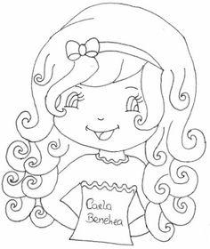 ♥ Refúgio da Angel : ♥Riscos de bonecas para pintar♥