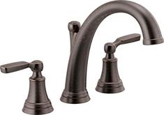 Delta Woodhurst Widespread Deck Mounted Roman Tub Faucet with Built-In Div Venetian Bronze Faucet Roman Tub Double Handle Roman Tub Faucets, Bathroom Faucets, Bathrooms, Farm Village, Oil Rubbed Bronze Faucet, Black Kitchen Faucets, Oil Brush, Installation Manual, Delta Faucets