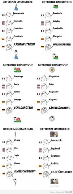 Different Languages...aka German makes things complicated
