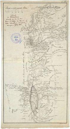 1806/07 – Der erste Europäer umrundet das Tote Meer   Map Dead Sea
