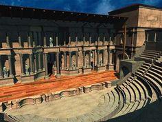 La ciudad comenzó un próspero desarrollo debido a la explotación de este material, construyéndose en ella un Teatro en la época Julio-Claudia e inaugurado durante la dinastía Flavia en torno al 78 d.C. donde se hacían representaciones de tragedias y comedias.