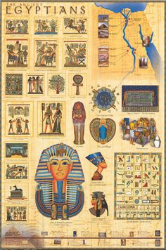 Unravel the mysteries of Ancient Egypt with this great infographic poster! A wealth of info about the Land of The Nile. Perfect for Classics Majors. Fully licensed. Ships fast. 24x36 inches. Need Post