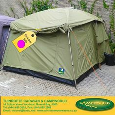 Have you seen the Howling Moon Cabin tent that we have on the Pink Dot Sale yet? Tuinroete Woonwaens Campworld MB is making space for our winter collection and has huge savings on a number of items in store. #campingequipment #pinkdotsale #specials