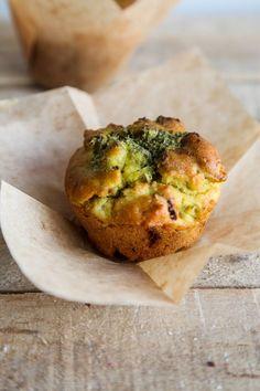 Savoury Pesto and Sun-Dried Tomato Muffins (Vegan   GF)