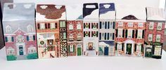 Great addition to your #ByersChoice decorations for a #DickensChristmas.  Set 7 retired #Caroler Dollhouse #DisplayBoxes Box Single Double 1988-1994