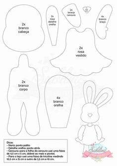 See related image detail Applique Templates, Applique Patterns, Craft Patterns, Sewing Patterns, Bunny Crafts, Felt Crafts, Easter Crafts, Felt Animal Patterns, Stuffed Animal Patterns
